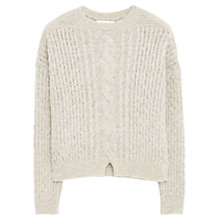 Buy Mango Chunky Knit Jumper, Pastel Grey Online at johnlewis.com