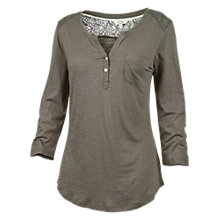 Buy Fat Face Lace Insert Henley T-Shirt Online at johnlewis.com