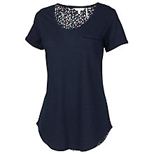 Buy Fat Face Madeley Berry Bud Tee, Navy Online at johnlewis.com