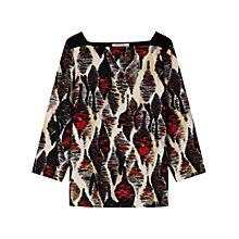 Buy Gerard Darel Belge Ikat Print Top, Red/Multi Online at johnlewis.com