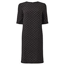Buy Jigsaw Polka Dot Crepe Dress, Black Online at johnlewis.com