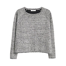 Buy Mango Flecked Jumper, Medium Grey Online at johnlewis.com