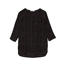 Buy Gerard Darel Silk Shirt, Black Online at johnlewis.com