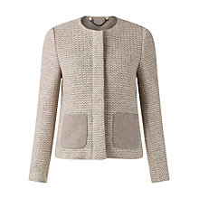 Buy Jigsaw Textured Knit Jacket, Oatmeal Online at johnlewis.com