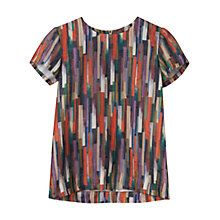 Buy Gerard Darel Bryanne Arty Print Top, Orange Online at johnlewis.com