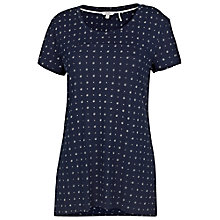 Buy Fat Face Tri Geo Print Swing Tee, Navy Online at johnlewis.com