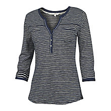 Buy Fat Face Wickham Stripe T-Shirt, Navy Online at johnlewis.com