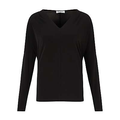 John Lewis Capsule Collection Jade Jersey Top, Black