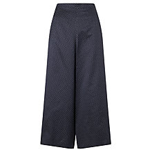 Buy Somerset by Alice Temperley Pin Dot Wide Leg Culottes, Navy Online at johnlewis.com
