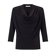 Buy Somerset by Alice Temperley Cowl Neck Top, Black Online at johnlewis.com