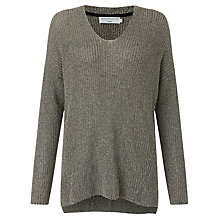 Buy John Lewis Capsule Collection V-Neck Fashioned Jumper, Black/Grey Online at johnlewis.com