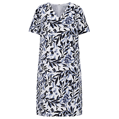 John Lewis Capsule Collection Elda Shadow Leaf Dress, Multi