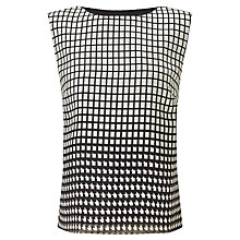 Buy Bruce by Bruce Oldfield Square Print Top, Black Online at johnlewis.com