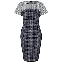 Buy Bruce by Bruce Oldfield Jacquard Check Dress, Navy Online at johnlewis.com