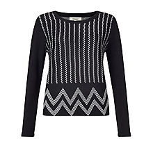 Buy Somerset by Alice Temperley Jacquard Jumper, Black Online at johnlewis.com
