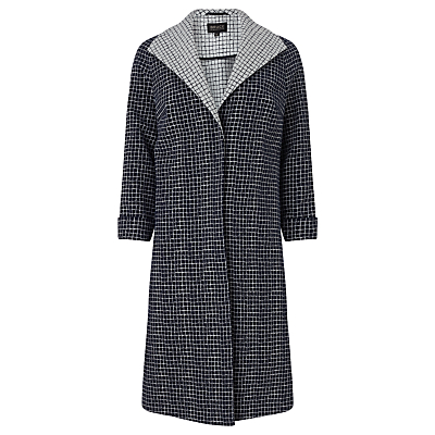Bruce by Bruce Oldfield Checked Jacquard Coat, Navy