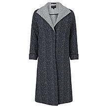 Buy Bruce by Bruce Oldfield Checked Jacquard Coat, Navy Online at johnlewis.com