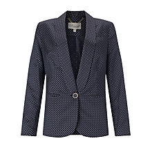 Buy Somerset by Alice Temperley One Button Pin Dot Jacket, Navy Online at johnlewis.com
