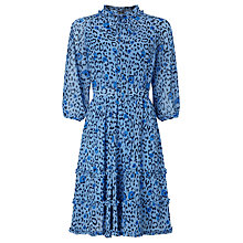 Buy Somerset by Alice Temperley Leopard Print Dress, Blue Online at johnlewis.com
