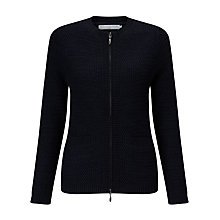 Buy John Lewis Capsule Collection Long Sleeve Zip Cardigan, Navy Online at johnlewis.com
