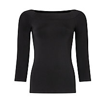 Buy Bruce by Bruce Oldfield Off The Shoulder Jumper, Black Online at johnlewis.com