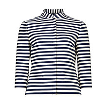 Buy Bruce by Bruce Oldfield Cropped Stripe Jacket, Navy/White Online at johnlewis.com