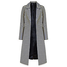 Buy Bruce by Bruce Oldfield Long Stripe Coat, Navy/White Online at johnlewis.com