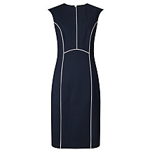 Buy John Lewis Blair Contrast Ponte Dress, Navy/White Online at johnlewis.com