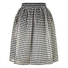 Buy Bruce by Bruce Oldfield Square Print Skirt, Black/White Online at johnlewis.com