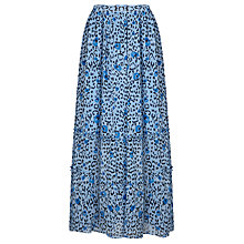 Buy Somerset by Alice Temperley Leopard Print Maxi Skirt, Blue Online at johnlewis.com