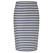 Buy Bruce by Bruce Oldfield Knee Length Stripe Skirt, Navy/White Online at johnlewis.com