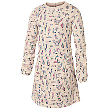 Buy Fat Face Girls' Bird Print Sweat Dress, Beige Online at johnlewis.com