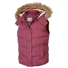 Buy Fat Face Girls' Abbey Gilet, Cranberry Online at johnlewis.com