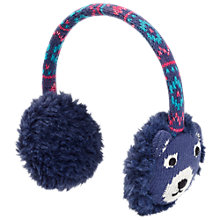 Buy Fat Face Camborne Bear Ear Muffs, Navy Online at johnlewis.com