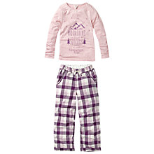 Buy Fat Face Girls' Check Pyjamas, Lilac Online at johnlewis.com