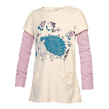 Buy Fat Face Hedgehog Long Sleeve Tunic Top, Oatmeal Online at johnlewis.com