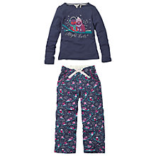 Buy Fat Face Girls' Owl Pyjama Set, Navy Online at johnlewis.com
