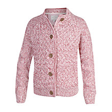 Buy Fat Face Girls' Knitted Bomber Jacket, Pink Online at johnlewis.com