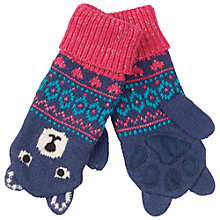 Buy Fat Face Camborne Bear Mittens, Navy Online at johnlewis.com