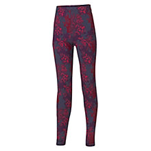 Buy Fat Face Girls' Floral Leggings, Pack of 2, Cranberry/Navy Online at johnlewis.com