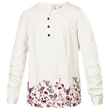 Buy Fat Face Girls' Long Sleeve Border Print Henley Top Online at johnlewis.com