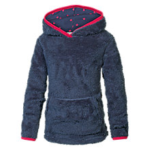 Buy Fat Face Girls' Popover Hooded Fleece, Navy Online at johnlewis.com