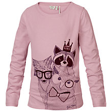 Buy Fat Face Girls' Forest Animals Long Sleeve T-Shirt, Pink Online at johnlewis.com