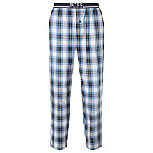 Buy BOSS Check Woven Cotton Lounge Pants, Blue Online at johnlewis.com