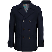 Buy Ted Baker Ossain Herringbone Wool Peacoat Online at johnlewis.com