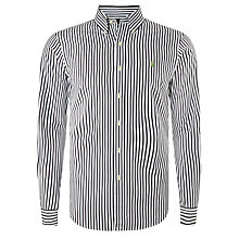 Buy Polo Ralph Lauren Button Down Sports Shirt, Black/White Online at johnlewis.com