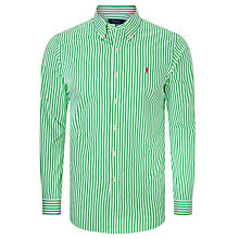 Buy Polo Ralph Lauren Slim Fit Button Down Sports Shirt, Lime/White Online at johnlewis.com