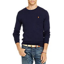 Buy Polo Ralph Lauren Slim Fit Cotton Jumper, Hunter Navy Online at johnlewis.com