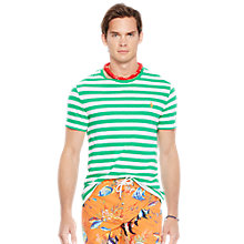 Buy Polo Ralph Lauren Stripe Tee, Stem/White Online at johnlewis.com