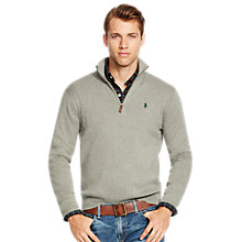 Buy Polo Ralph Lauren Half Zip Mockneck Jumper Online at johnlewis.com